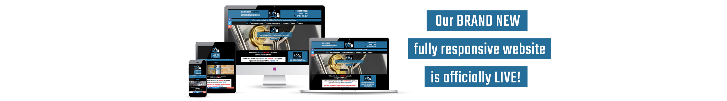 The NEW LockSolid Locksmiths responsive website is now LIVE!
